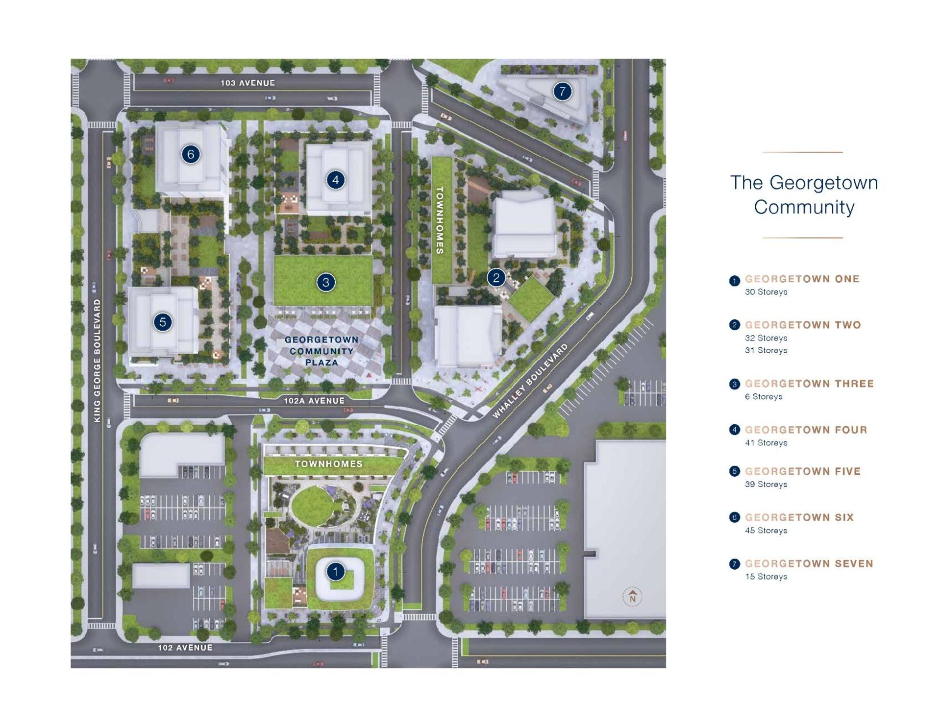 georgetown-master-plan-community-map at Georgetown (13645 102 Avenue, Surrey Central (Central City), North Surrey)