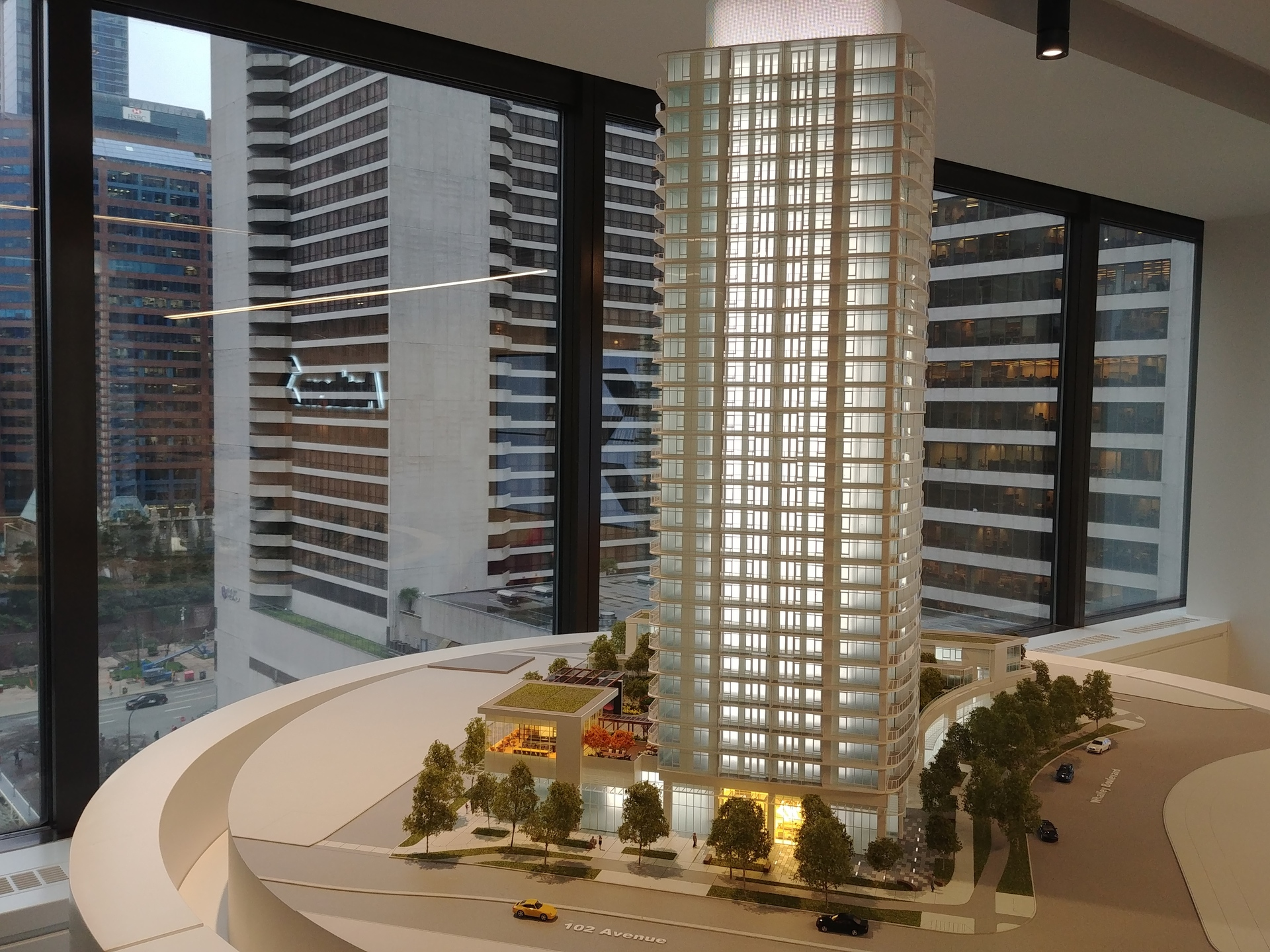 georgetown-one-southern-facade-model at Georgetown (13645 102 Avenue, Surrey Central (Central City), North Surrey)