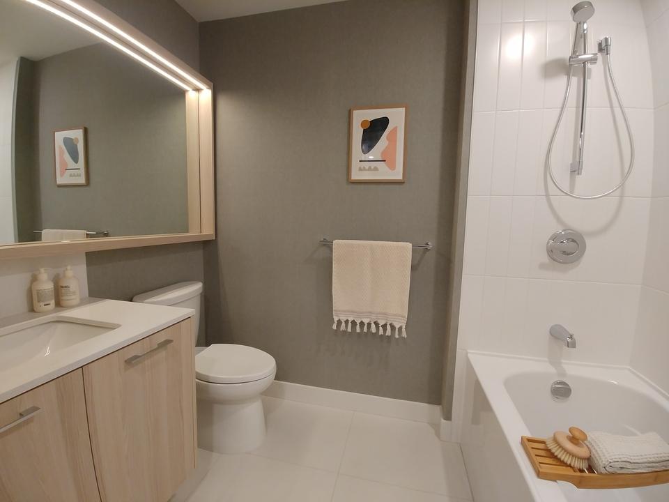 The Oaks- Bathroom- light colour scheme at The Oaks (731 Anskar Court, Coquitlam West, Coquitlam)