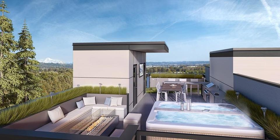 crest-rooftop-patio at Crest (16828 Boxwood Drive, Fleetwood Tynehead, Surrey)