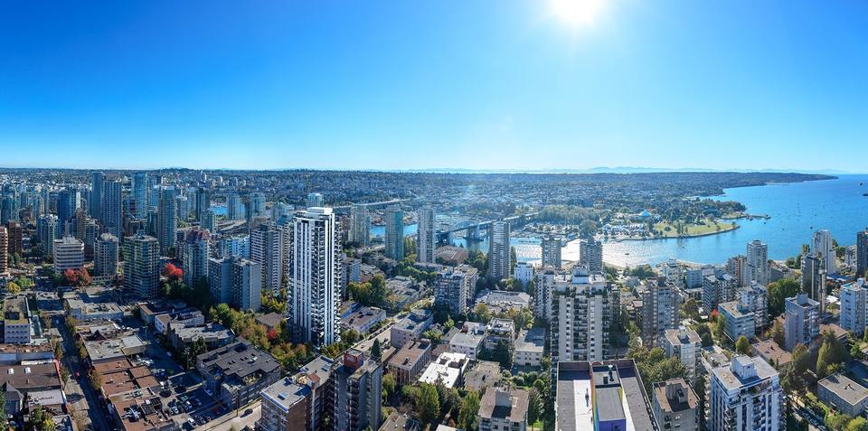 the-thurlow-aerial-perspective at The Thurlow (1080 Burnaby Street, West End VW, Vancouver West)