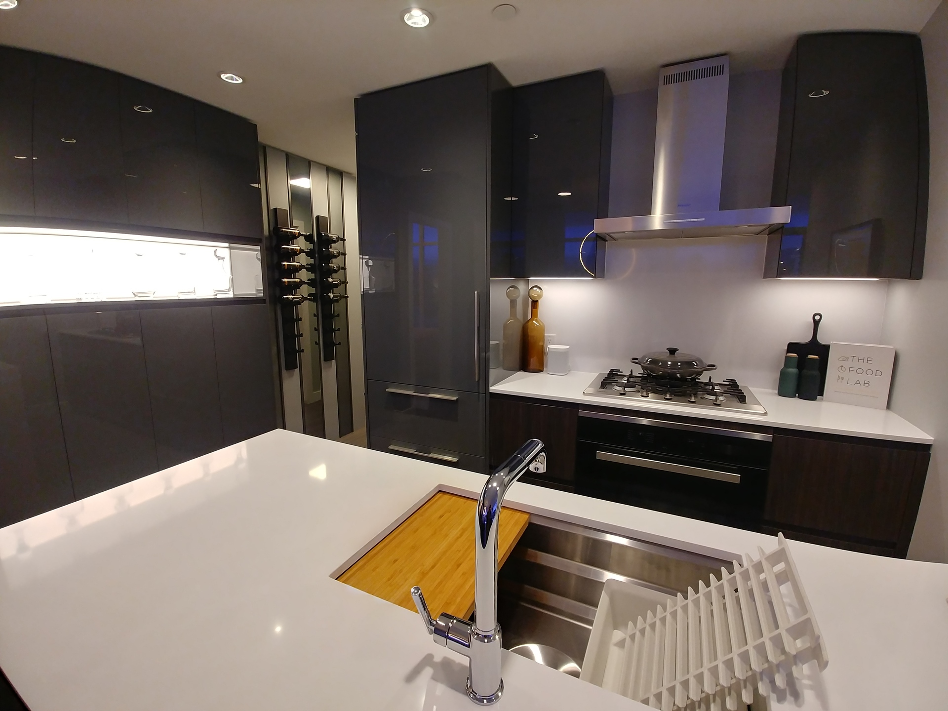 highline-c-plan-display-kitchen-dark-scheme-with-included-pantry at Highline (6811 Sussex Street, Metrotown, Burnaby South)