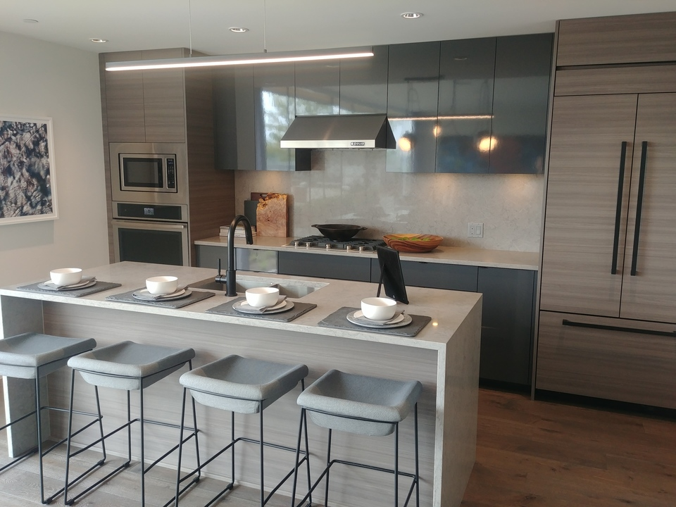 Mode penthouse kitchen at Mode - River District (3438 Sawmill Crescent, Champlain Heights, Vancouver East)