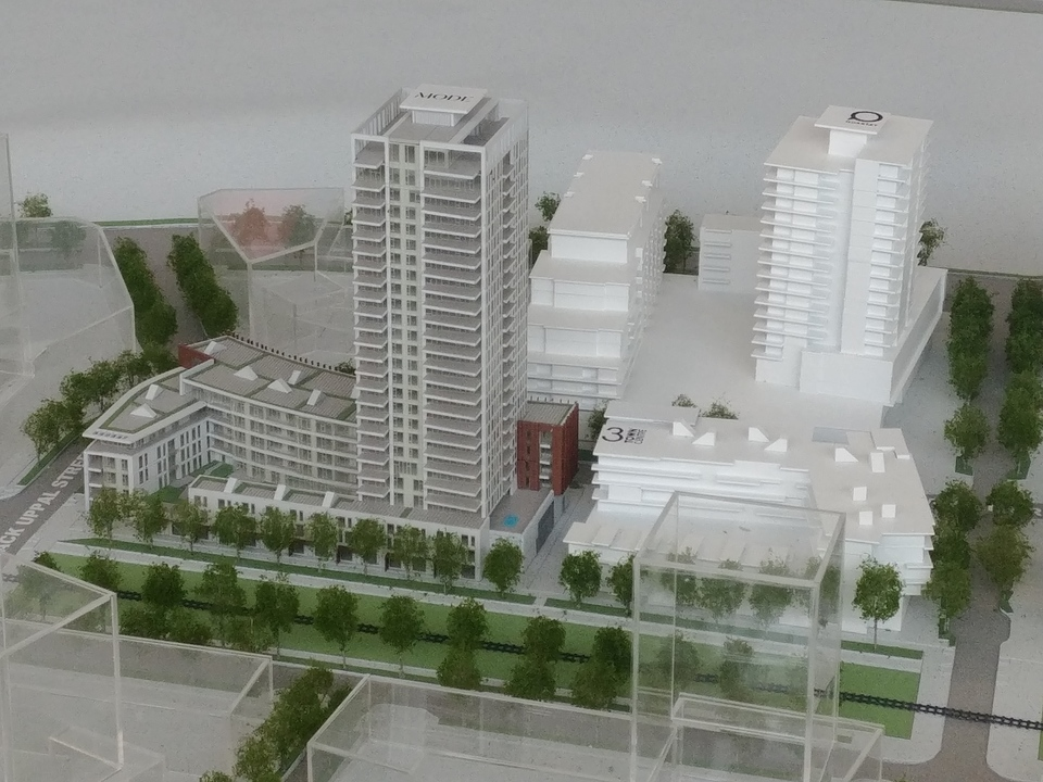 Mode building model at Mode - River District (3438 Sawmill Crescent, Champlain Heights, Vancouver East)