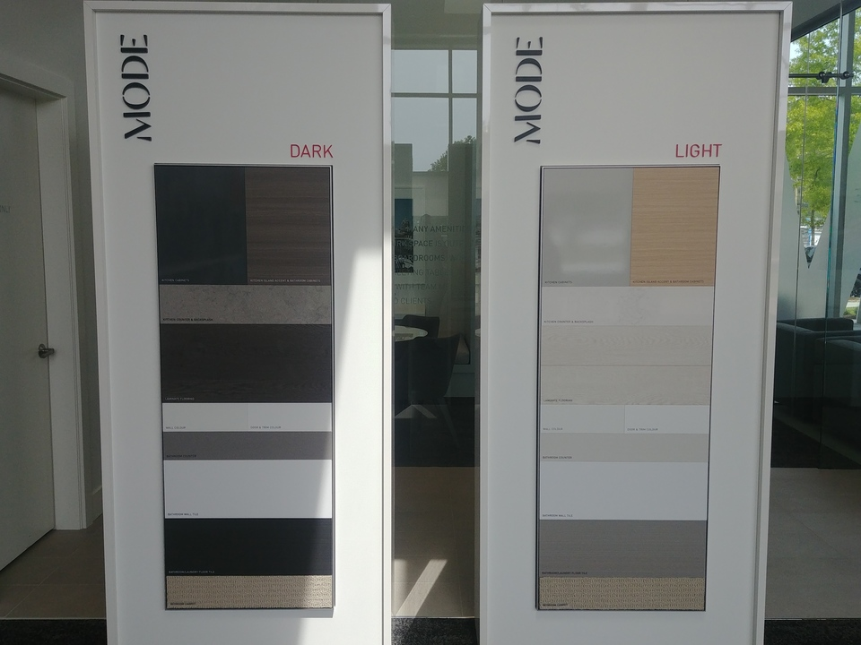 Mode colour schemes at Mode - River District (3438 Sawmill Crescent, Champlain Heights, Vancouver East)