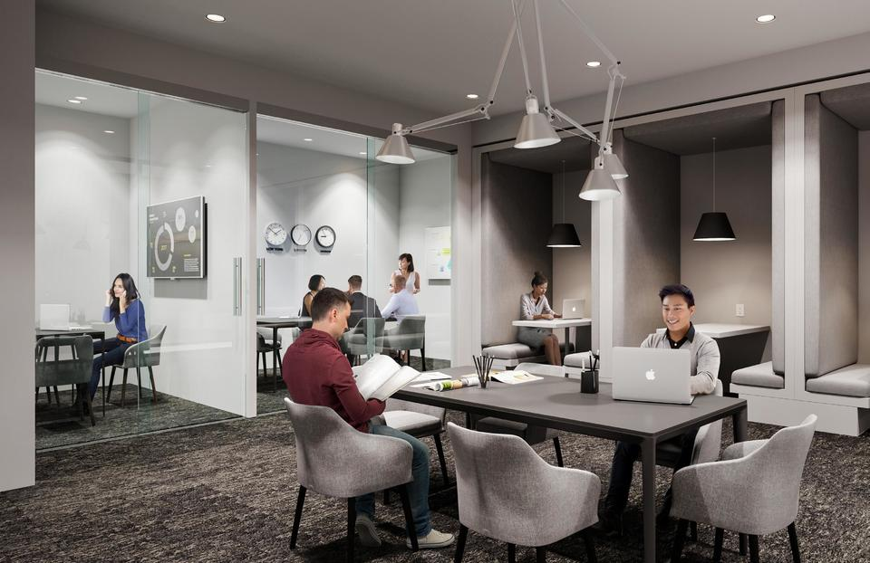 MODE Work Hub at Mode - River District (3438 Sawmill Crescent, Champlain Heights, Vancouver East)