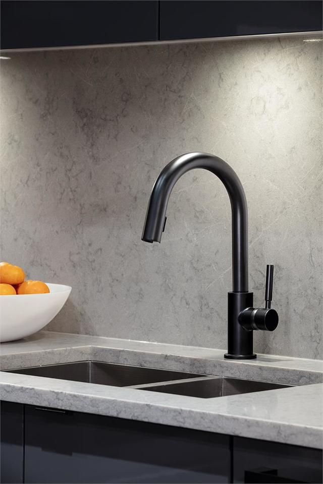 mode-black-matte-faucet at Mode - River District (3438 Sawmill Crescent, Champlain Heights, Vancouver East)