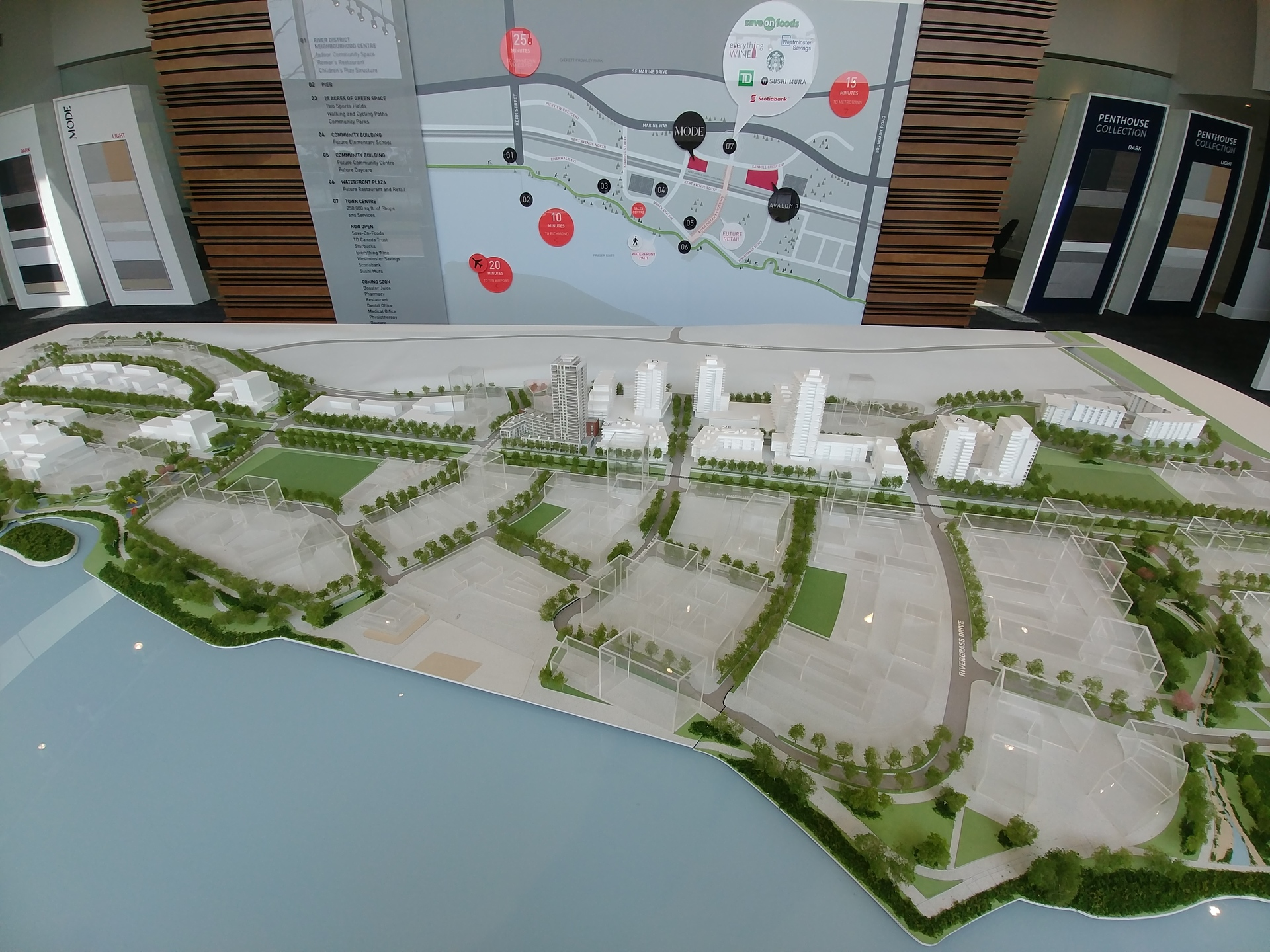 River District model at Mode - River District (3438 Sawmill Crescent, Champlain Heights, Vancouver East)