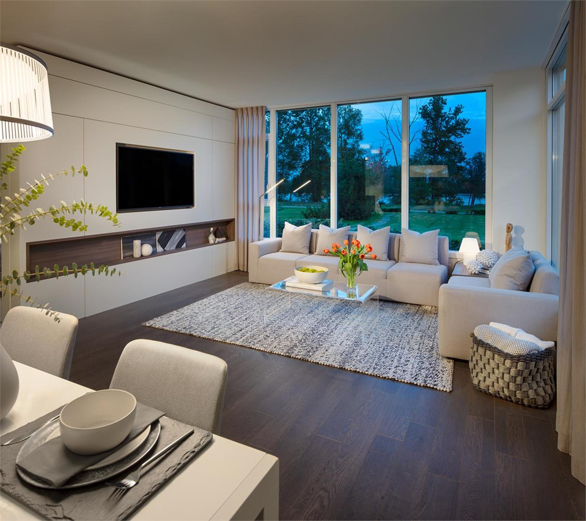 mode-living-room at Mode - River District (3438 Sawmill Crescent, Champlain Heights, Vancouver East)