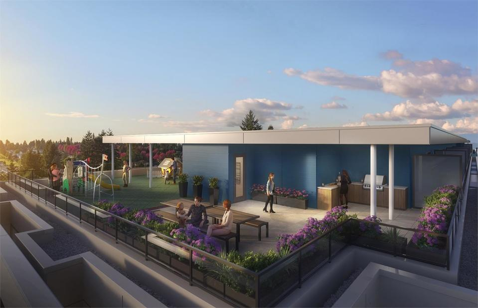 amson-square-surrey-condos-roof-top-terrace at Amson Square (14468 72 Avenue, East Newton, Surrey)