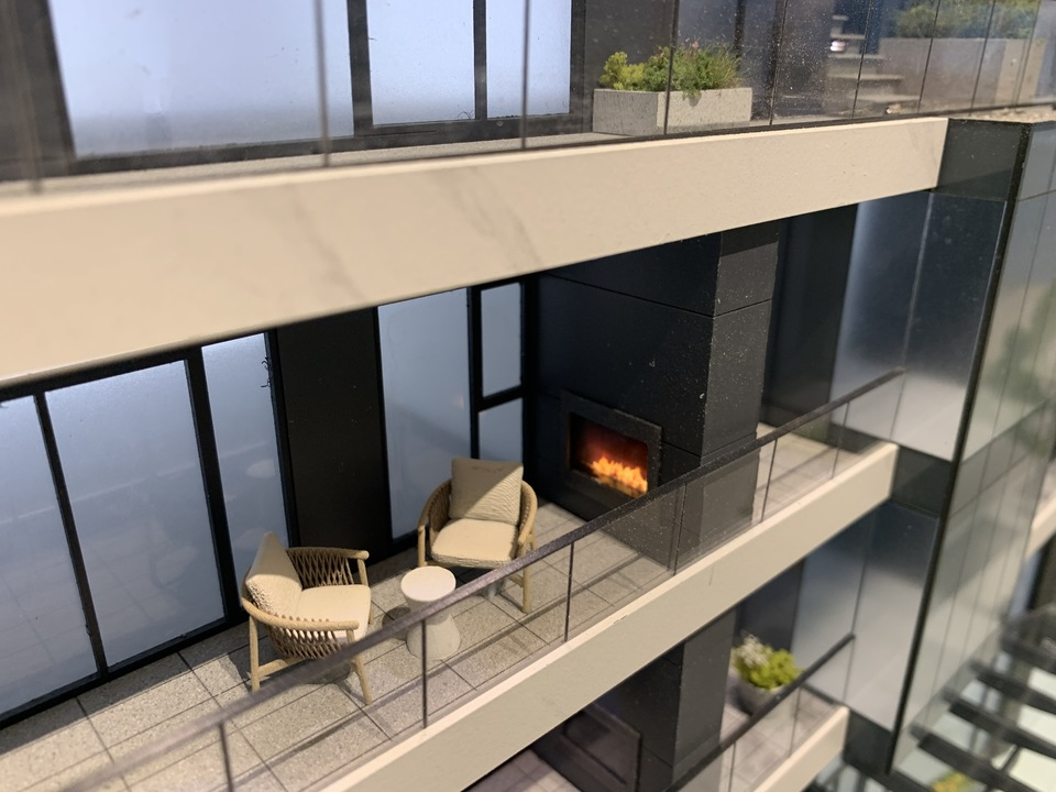 At Legacy every home features an outdoor gas fireplace at Legacy on Dunbar (4464 Dunbar Street, Dunbar, Vancouver West)