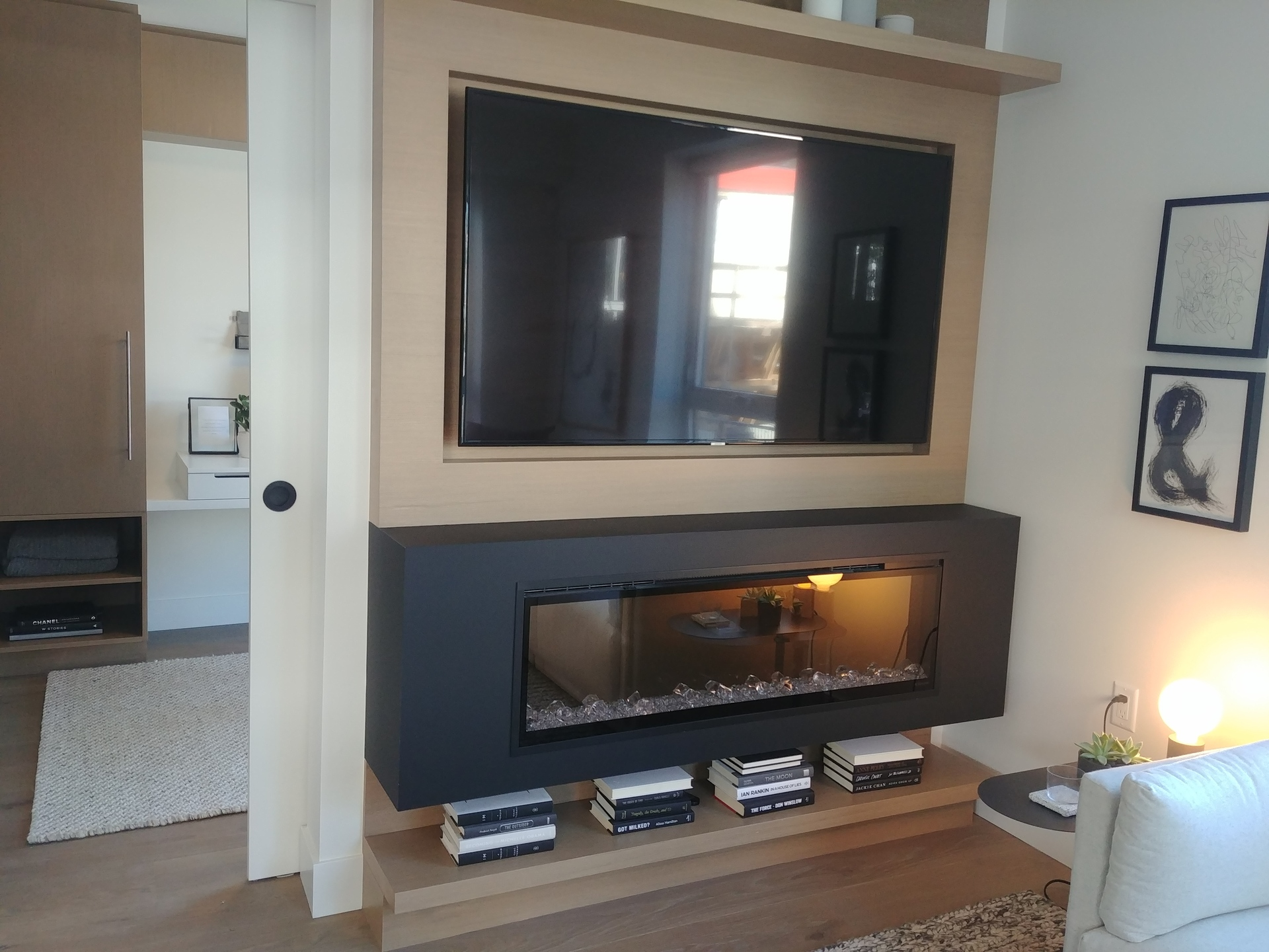 shift-electric-fireplace-and-millwork-included at Shift (5089 Quebec Street, Main, Vancouver East)