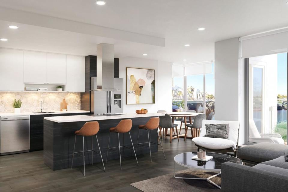 the-pearl-dark-kitchen at The Pearl Residences (1628 Store Street, Downtown and Harris Green, Victoria)