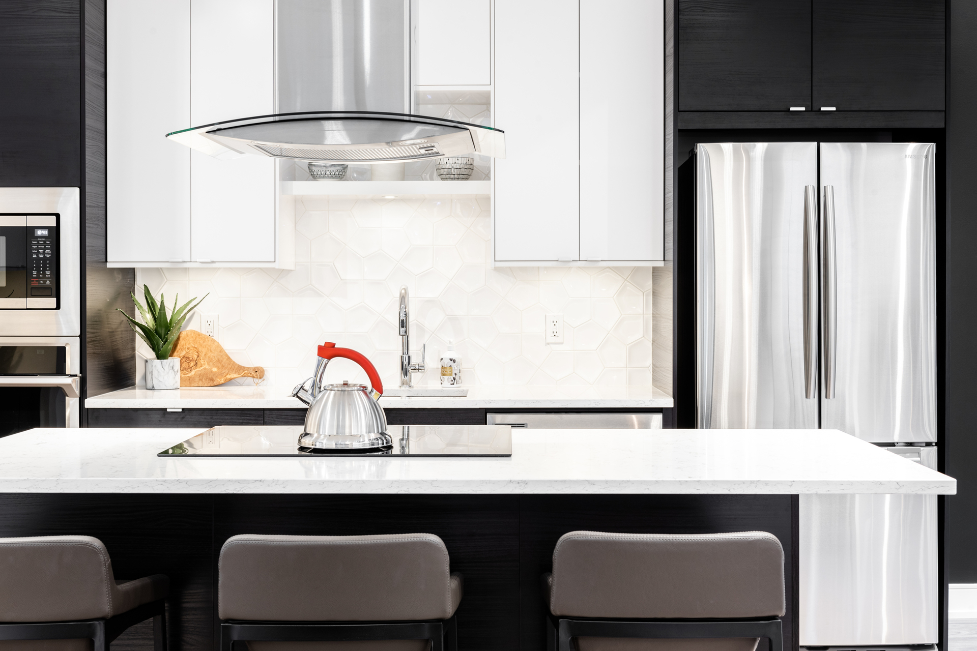 The Pearl Dark Kitchen Detail at The Pearl Residences (1628 Store Street, Downtown and Harris Green, Victoria)