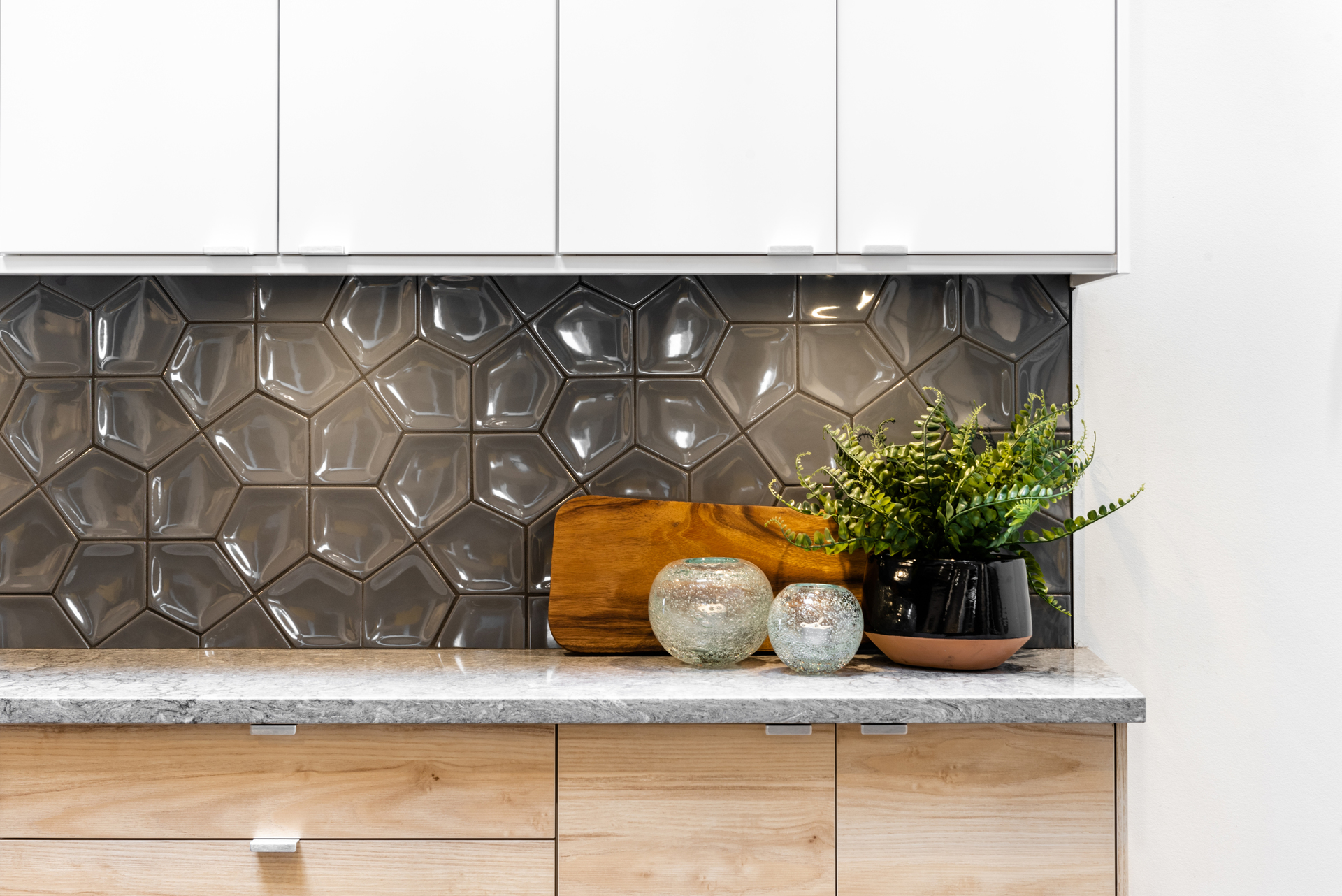 The Pearl Dark Backsplash at The Pearl Residences (1628 Store Street, Downtown and Harris Green, Victoria)