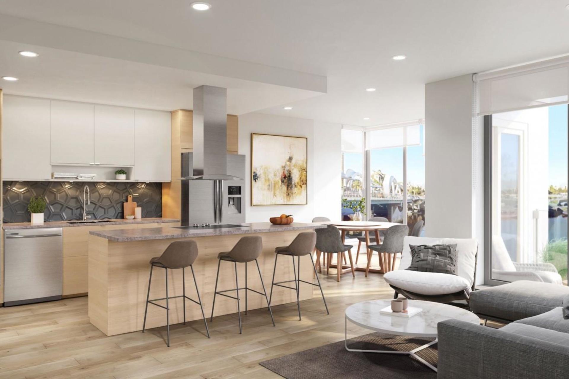 The Pearl Residences Light Kitchen at The Pearl Residences (1628 Store Street, Downtown and Harris Green, Victoria)