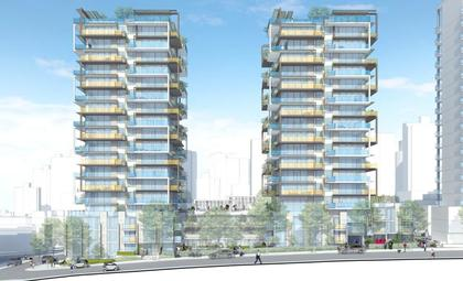 Mirabel-towers at 1345 Davie Street, West End VW, Vancouver West