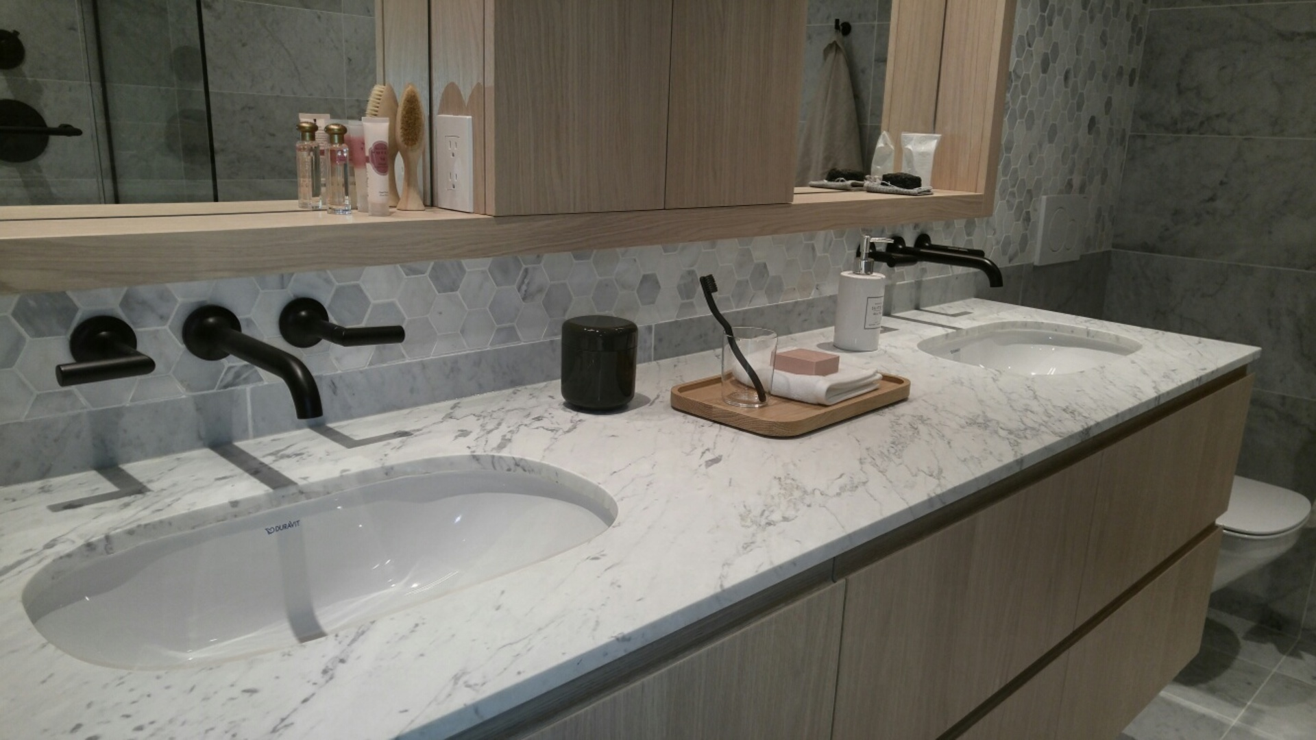 mirabel-ensuite-double-vanity at 1345 Davie Street, West End VW, Vancouver West