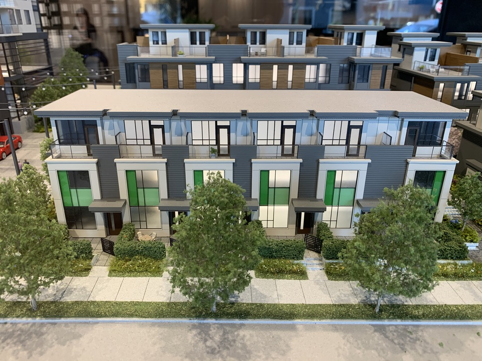 Format 3 bed + den townhomes facing Fleming at FORMAT (1503 Kingsway Street, Knight, Vancouver East)