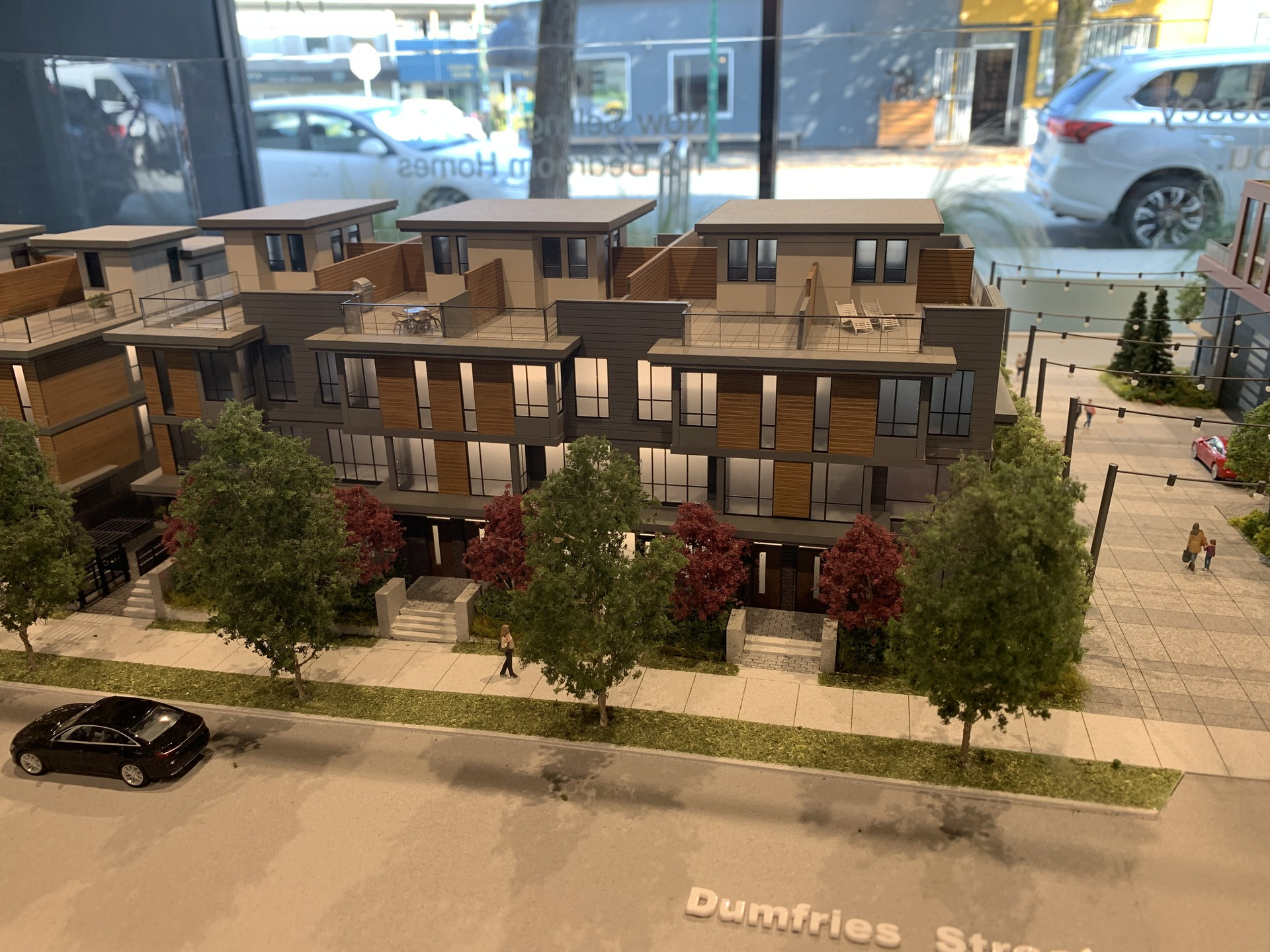 Format townhomes facing Dumfries  at FORMAT (1503 Kingsway Street, Knight, Vancouver East)