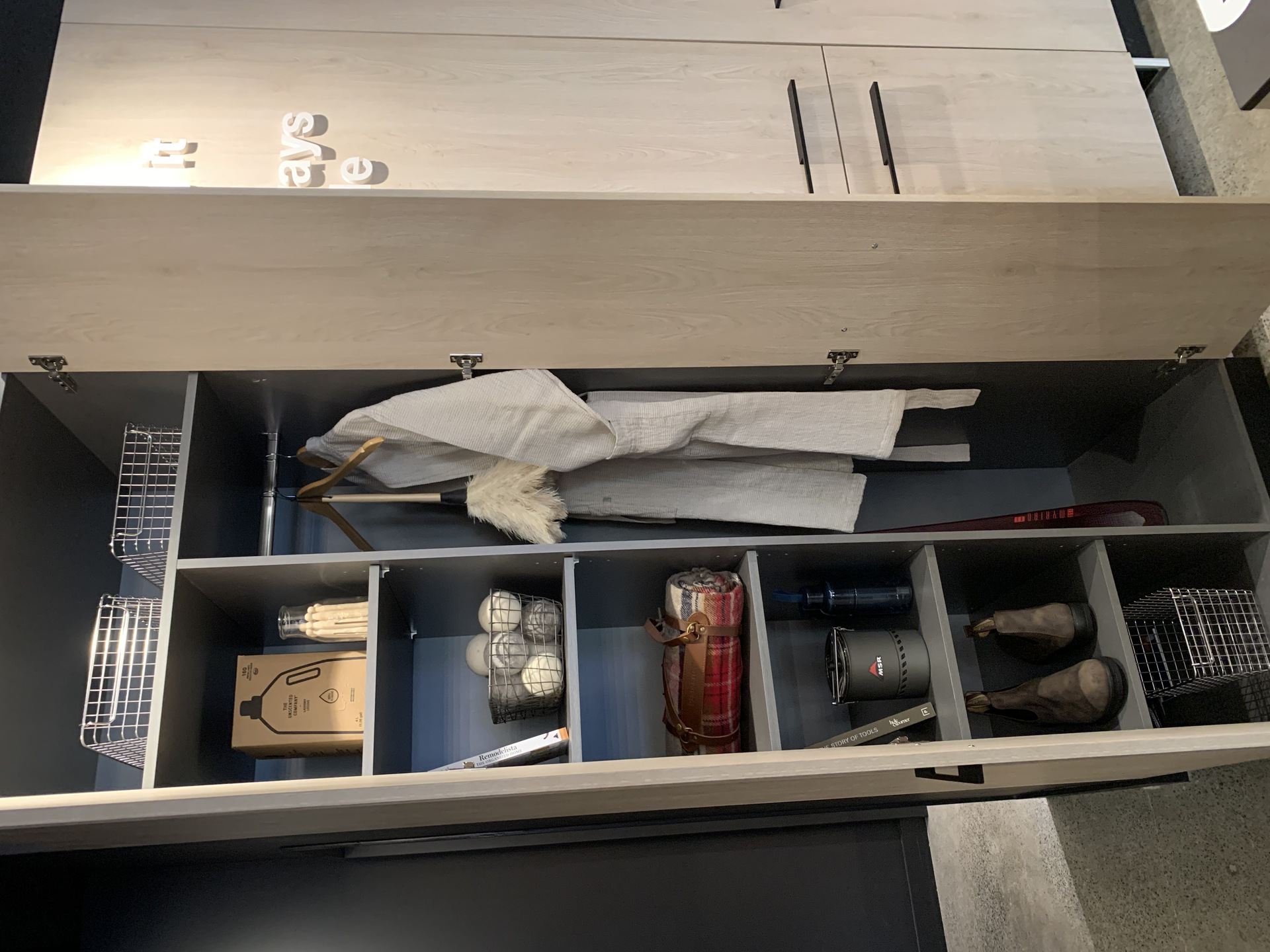 Format customized wardrobe functioning as entry closet at FORMAT (1503 Kingsway Street, Knight, Vancouver East)