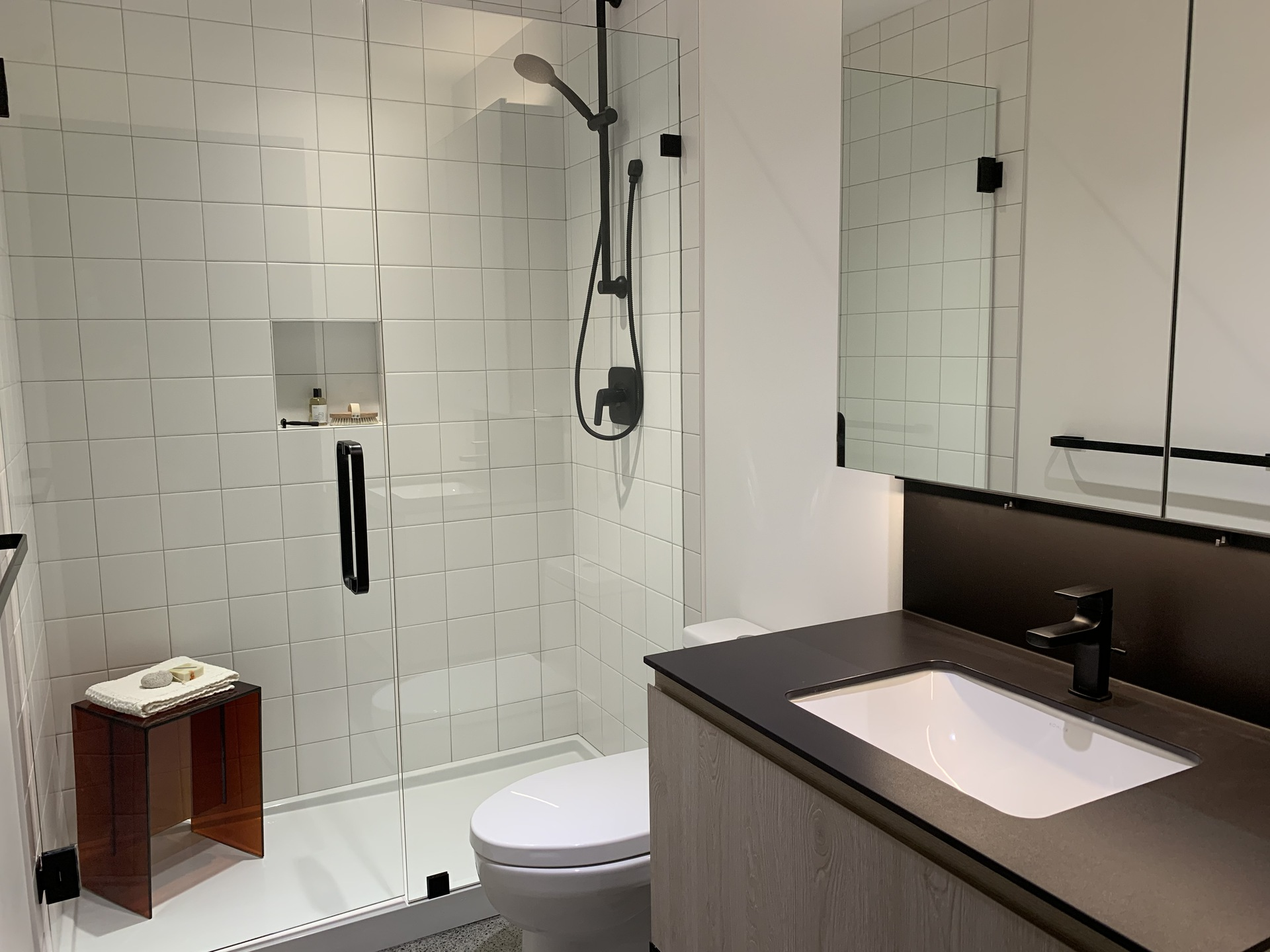 Format bathroom with standard walk-in shower at FORMAT (1503 Kingsway Street, Knight, Vancouver East)