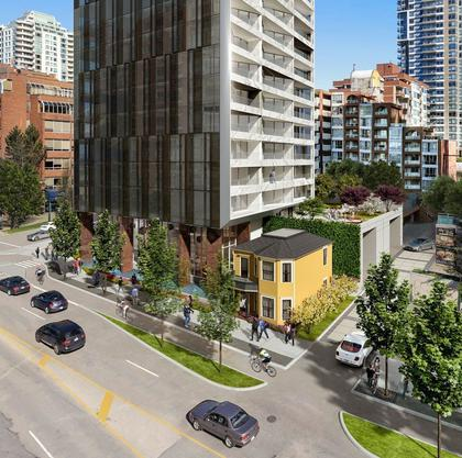 grosvenor-pacific-street-view and Leslie House at 1382 Hornby Street, Downtown VW, Vancouver West