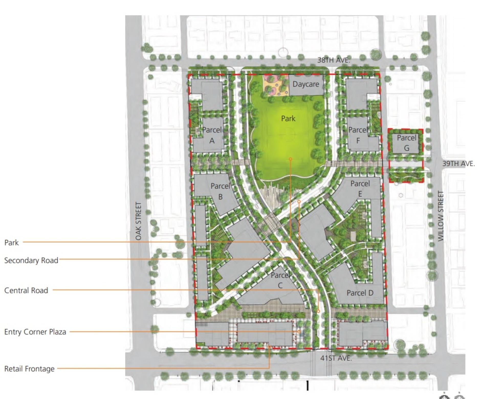 oak-green- site-plan at Oak Green (949 W 41st Avenue, Cambie, Vancouver West)