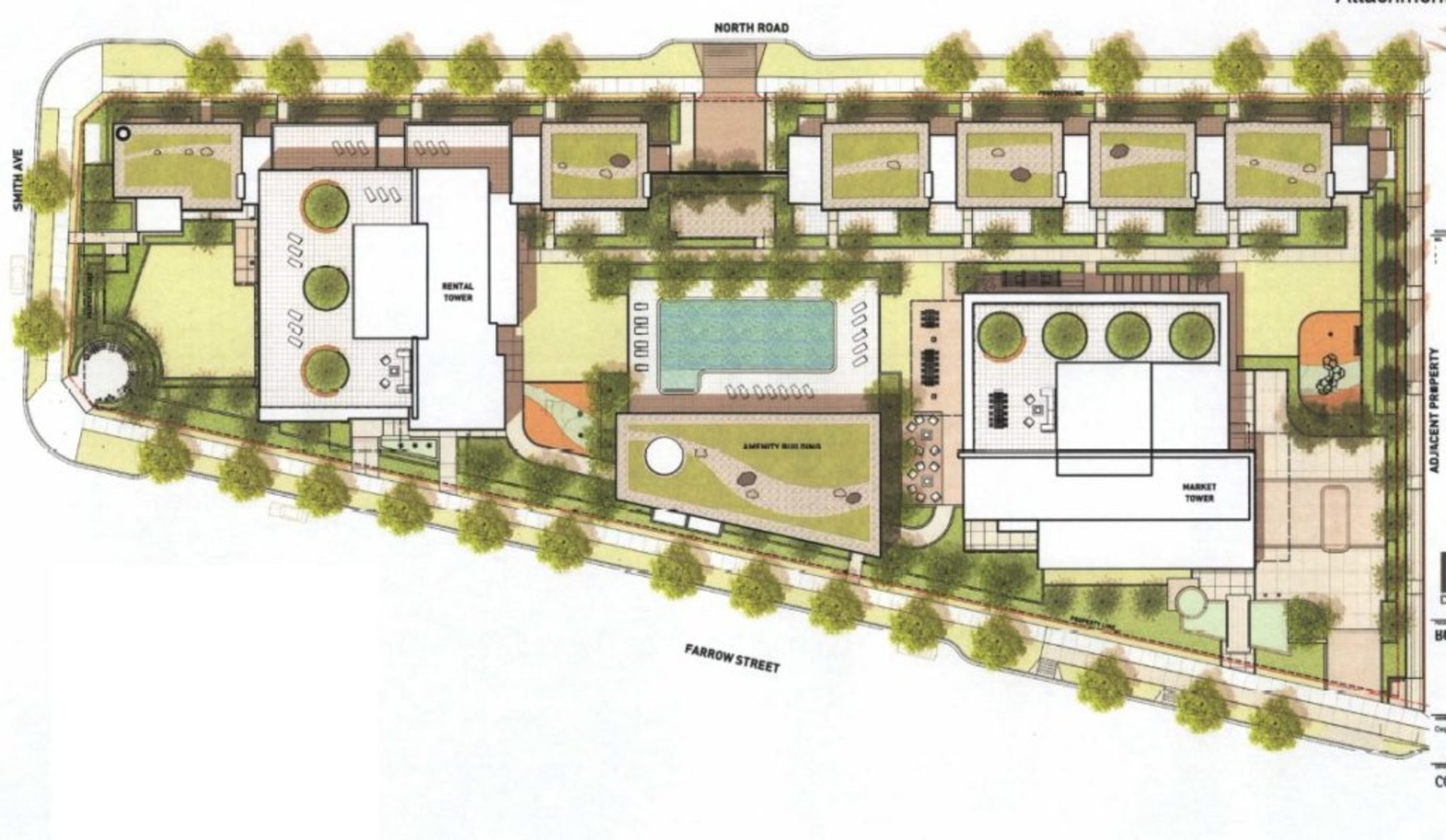 707-north-road_site plan at Smith and Farrow (705-707 North Road, Coquitlam West, Coquitlam)