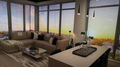 Contessa-livingroom at Contessa (5355 Cambie Street, Cambie, Vancouver West)