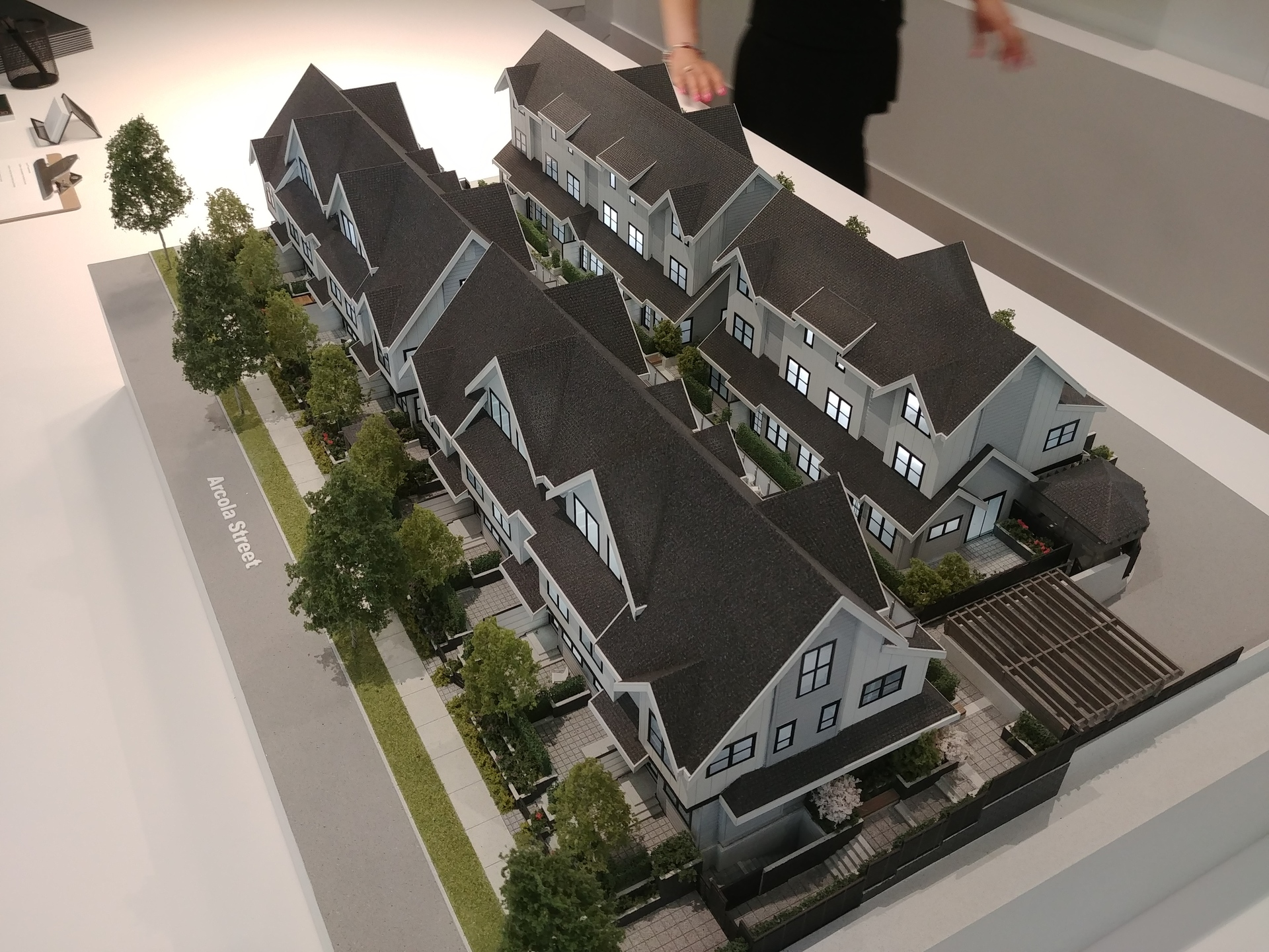 arcola-ths-from-se at Arcola Townhomes (6965 Arcola Street, Highgate, Burnaby South)