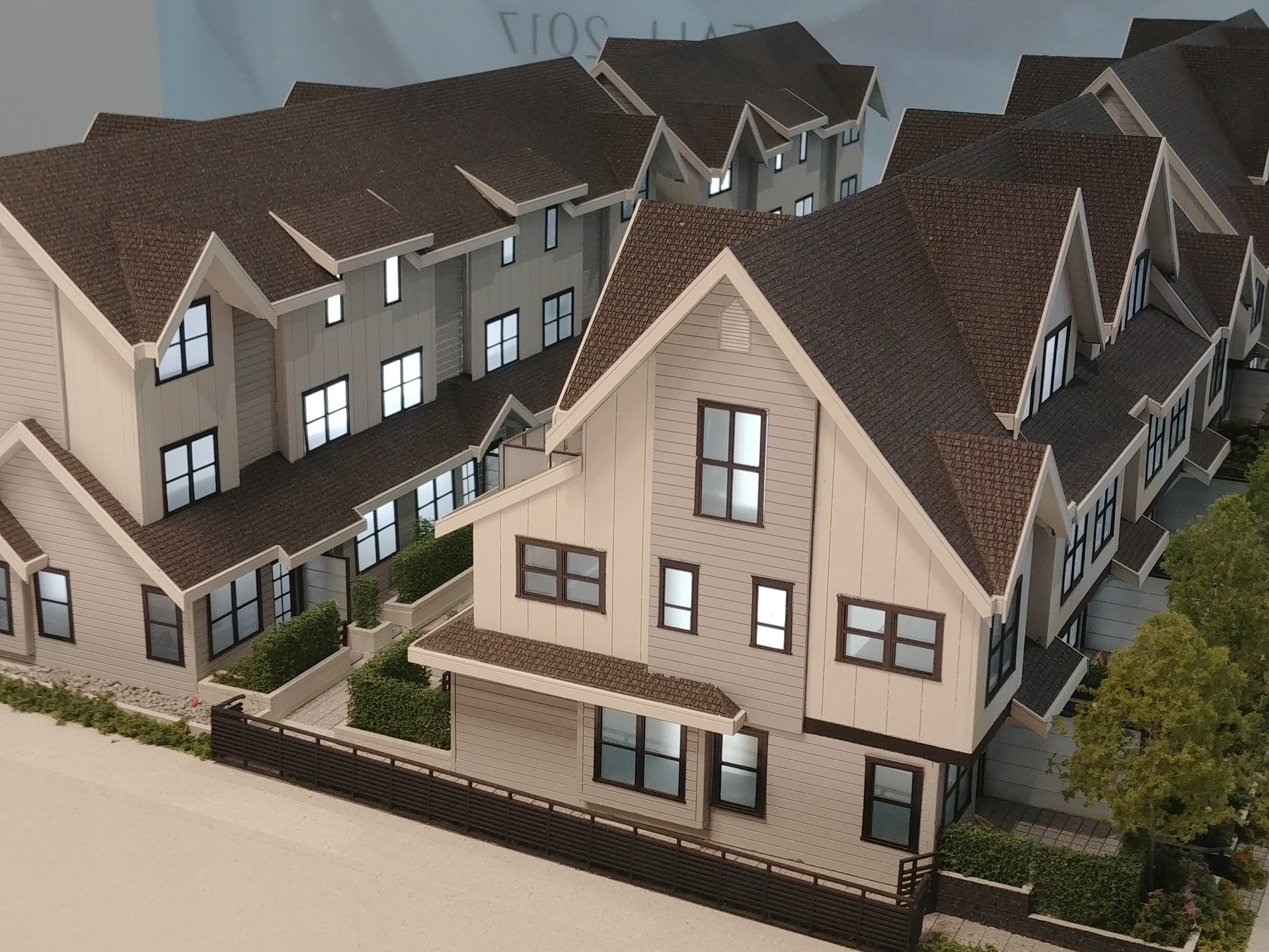 arcola-townhomes-building-model-west-facade at Arcola Townhomes (6965 Arcola Street, Highgate, Burnaby South)