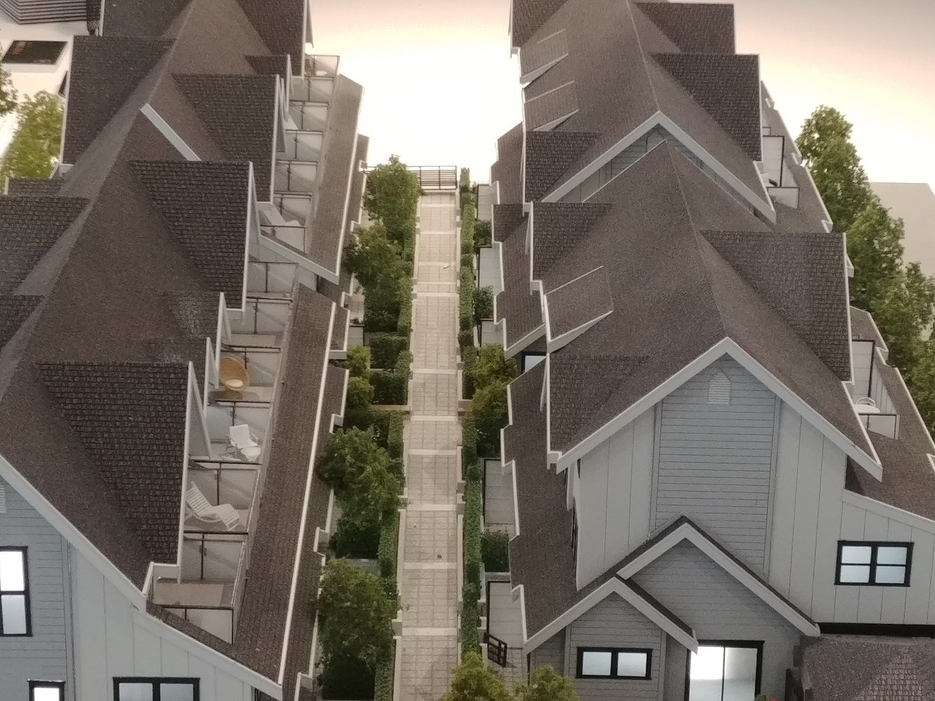 arcola-townhomes-from-east at Arcola Townhomes (6965 Arcola Street, Highgate, Burnaby South)