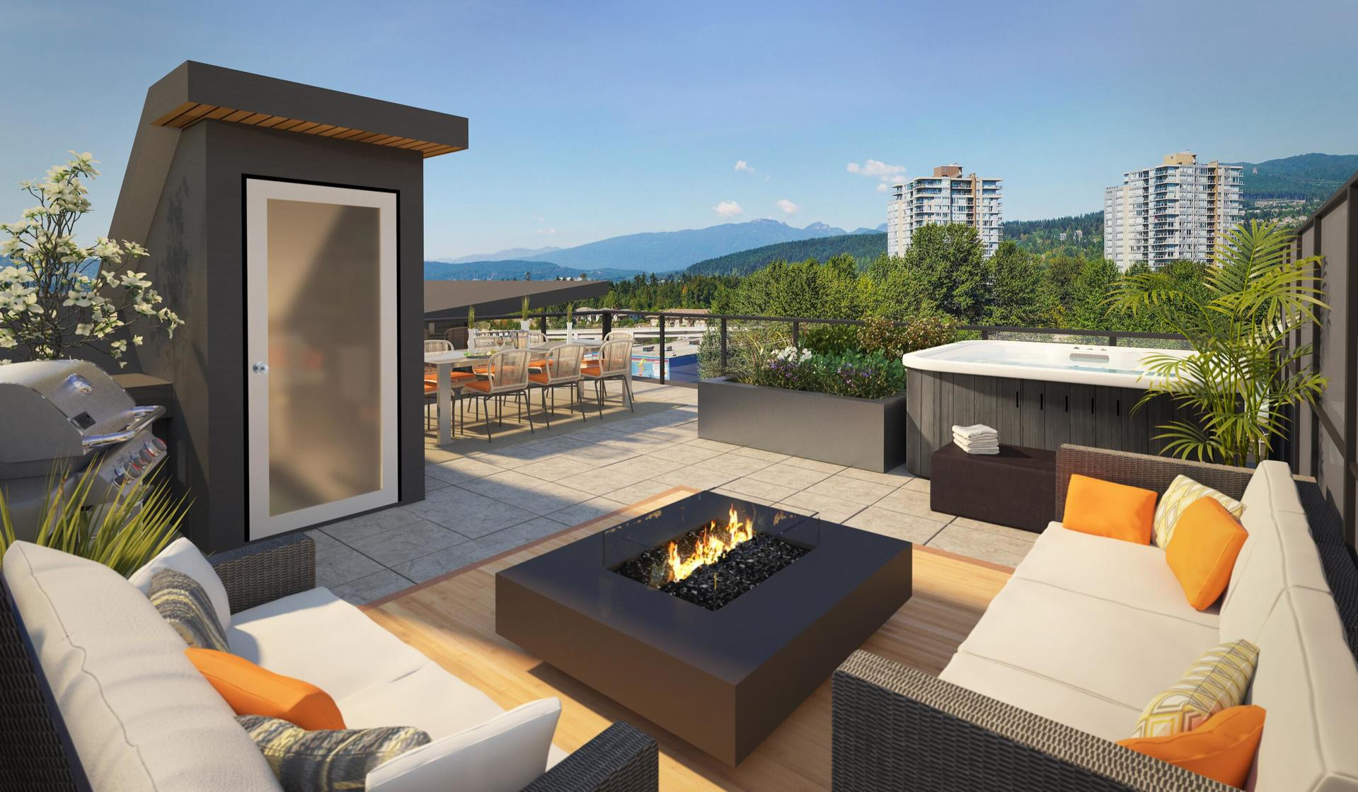 Clyde Penthouse Homes with Roof Top Deck, hot tub optional at Clyde (3227 St Johns Street, Port Moody Centre, Port Moody)