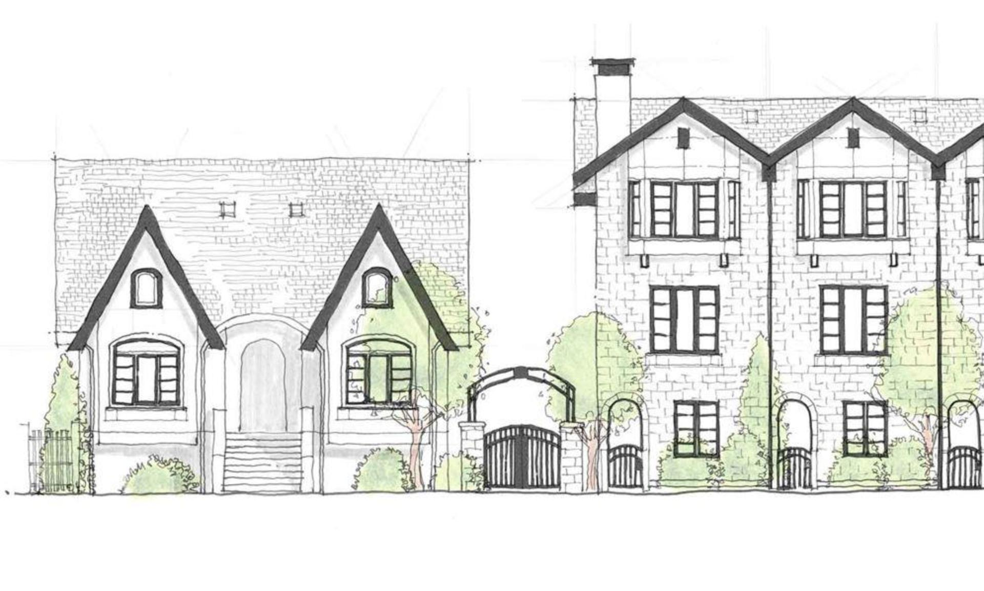 brownstones_sketch at Brownstones at Kingscrest Park (4328 Knight Street, Knight, Vancouver East)