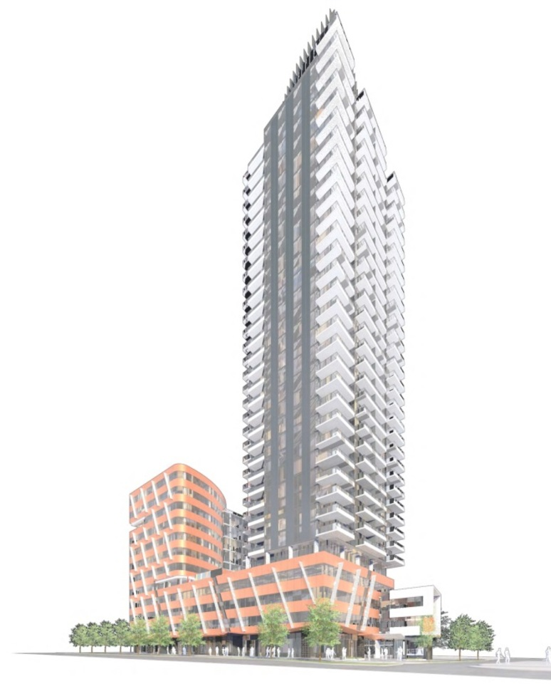 5812-cambie-artists rendering from condo tower at 5812-5844 Cambie Street (5812-5844 Cambie Street, Cambie, Vancouver West)