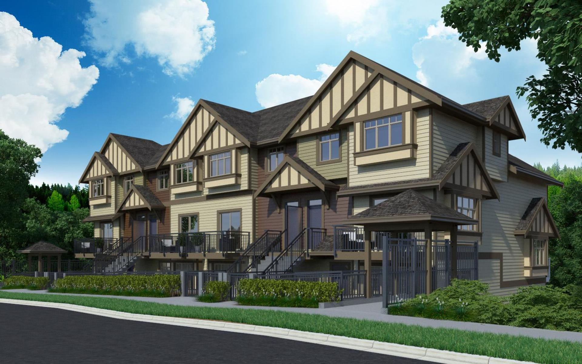 parkview_townhomes_burnaby_rendering at Parkview Townhomes (4033 Dominion Street, Brentwood Park, Burnaby North)