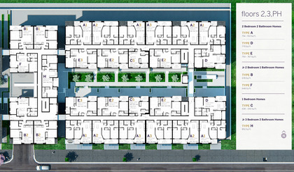 Infinity-Floorplans-2nd-3rd-and-Penthouse at Infinity (5365 Lane Street, Metrotown, Burnaby South)