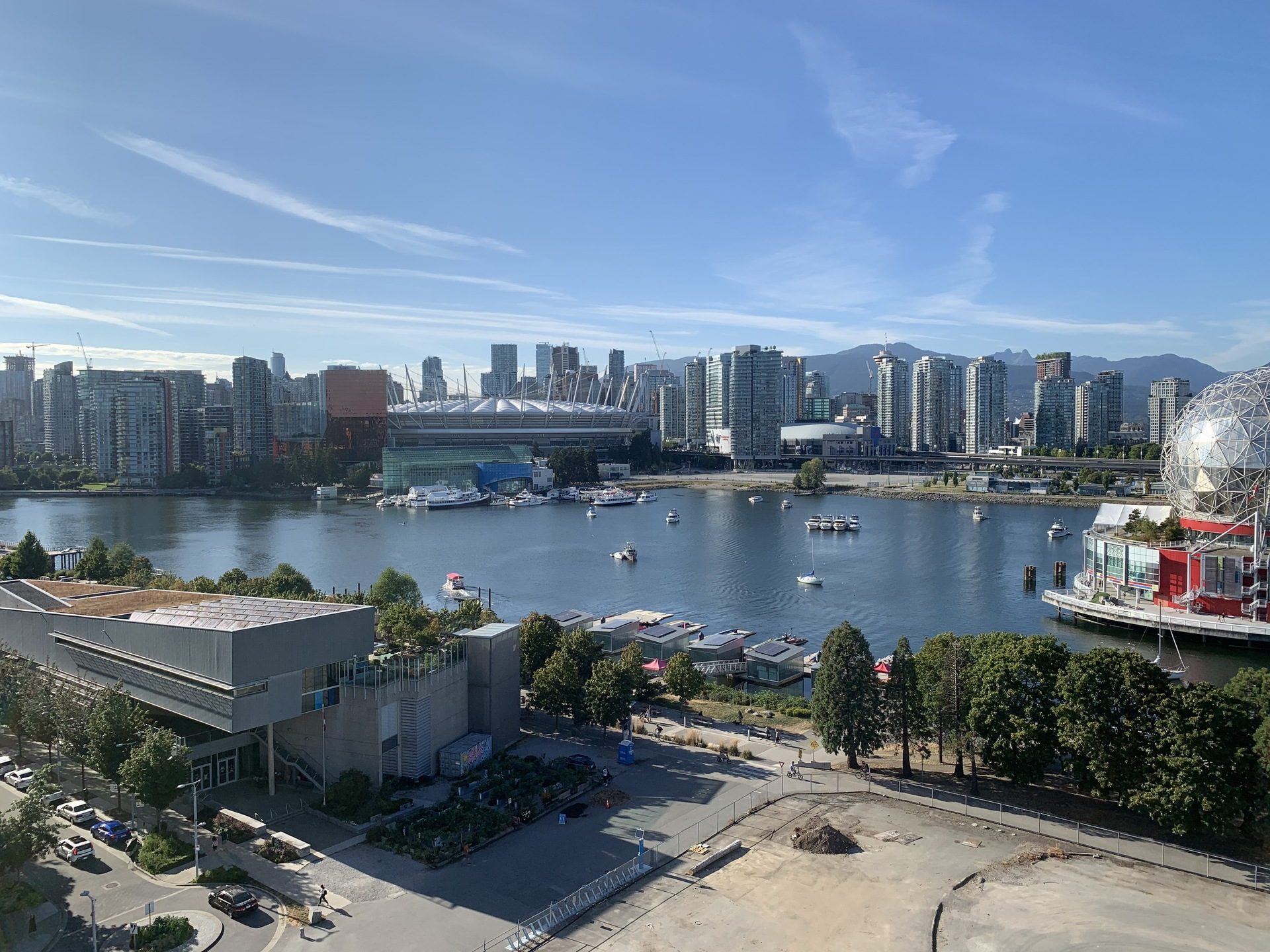 View from Navio penthouse as Tesoro display suite - 12th floor at TESORO 1551 Quebec - The Creek Building 5 (1551 Quebec, False Creek, Vancouver West)