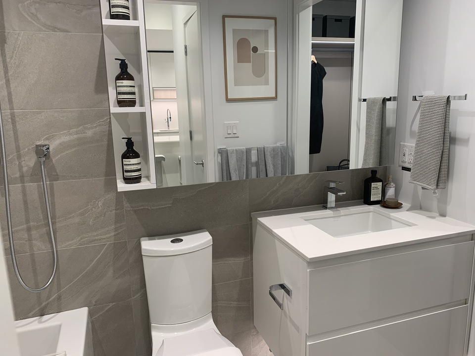 RC bathroom in light scheme with medicine cabinet at RC at CF Richmond Centre (6331 Number 3 Road, Brighouse, Richmond)