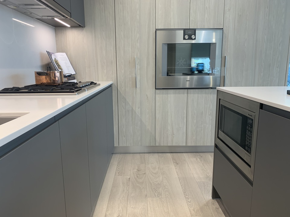 RC display kitchen with Gaggenau wall oven and Panasonic microwave at RC at CF Richmond Centre (6331 Number 3 Road, Brighouse, Richmond)