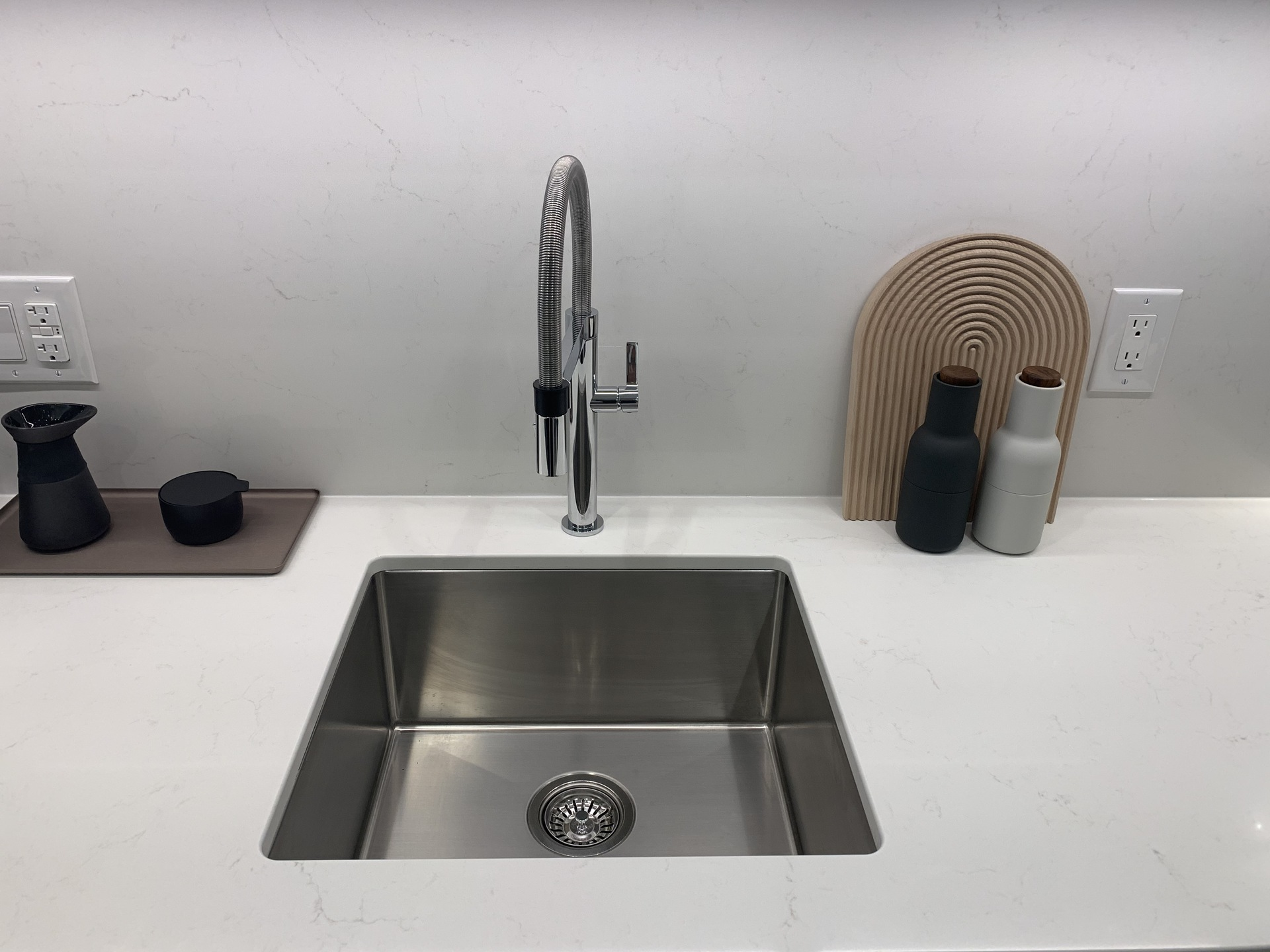 RC kitchen sink with Blanco faucet at RC at CF Richmond Centre (6331 Number 3 Road, Brighouse, Richmond)