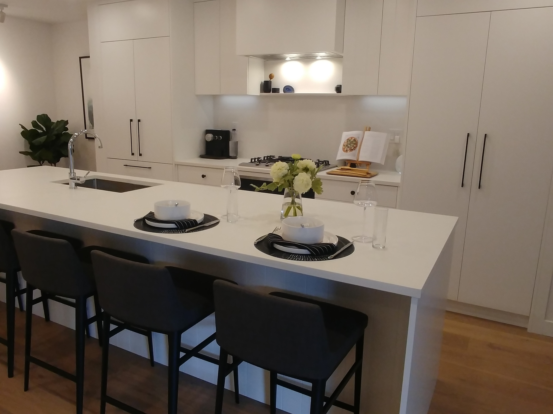 just-west-townhome-kitchen-display-with-large-island at Just West (on King Edward) (86 W King Edward Avenue, Cambie, Vancouver West)