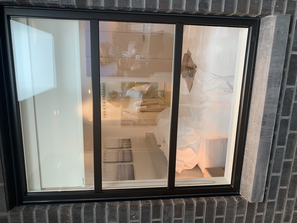 Kin - outdoor window looking into bedroom at The Kin Collection (7470 Buller Avenue, Metrotown, Burnaby South)