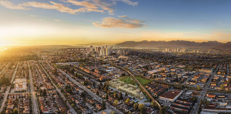 kin-collection-aerial-rendering at The Kin Collection (7470 Buller Avenue, Metrotown, Burnaby South)