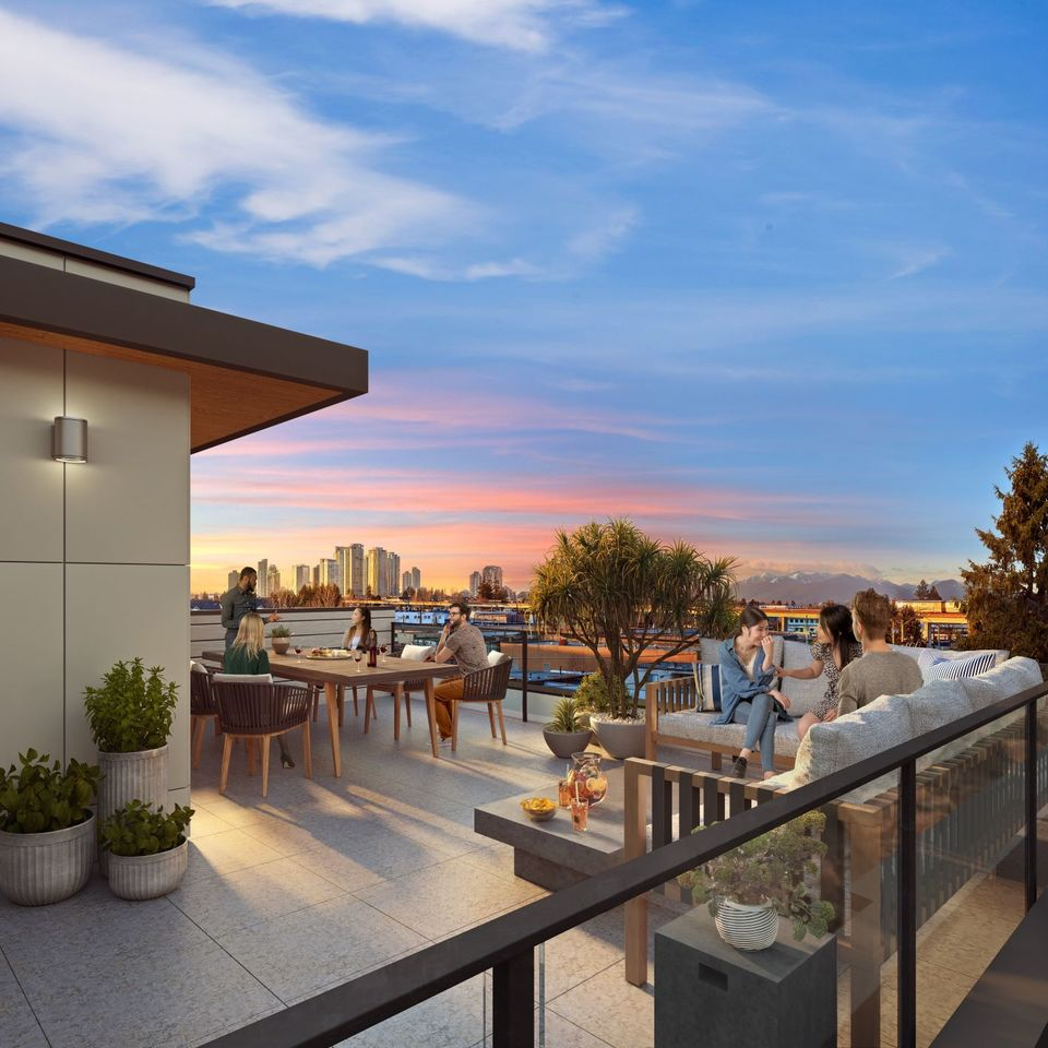 kin-collection-burnaby-townhomes-rooftop-patio-rendering-final at The Kin Collection (7470 Buller Avenue, Metrotown, Burnaby South)