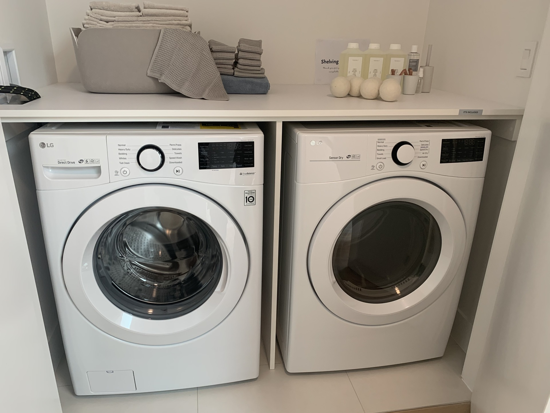 Kin - side-by-side full-size washer & dryer at The Kin Collection (7470 Buller Avenue, Metrotown, Burnaby South)