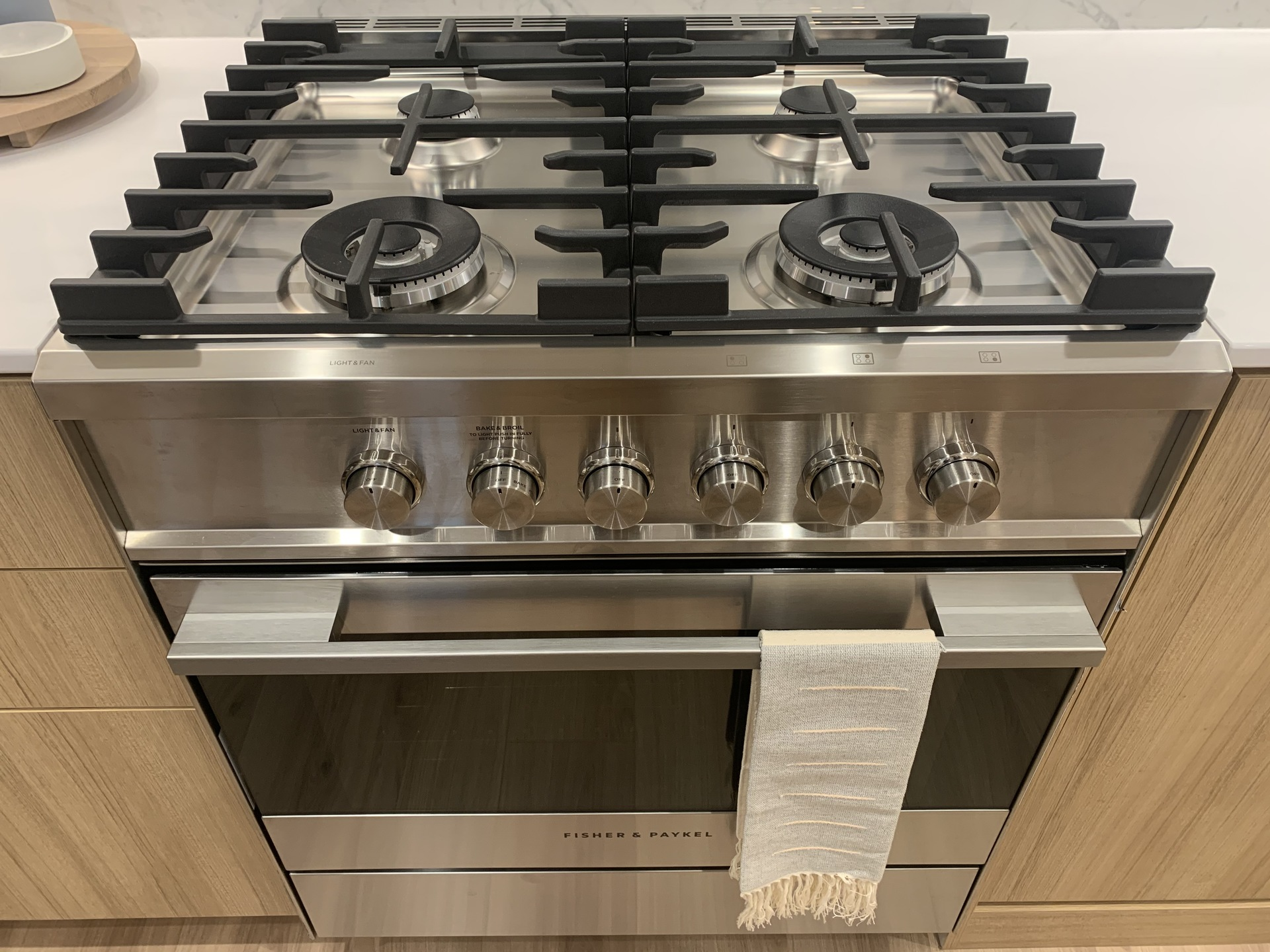 Kin - Fisher & Paykel gas stove at The Kin Collection (7470 Buller Avenue, Metrotown, Burnaby South)