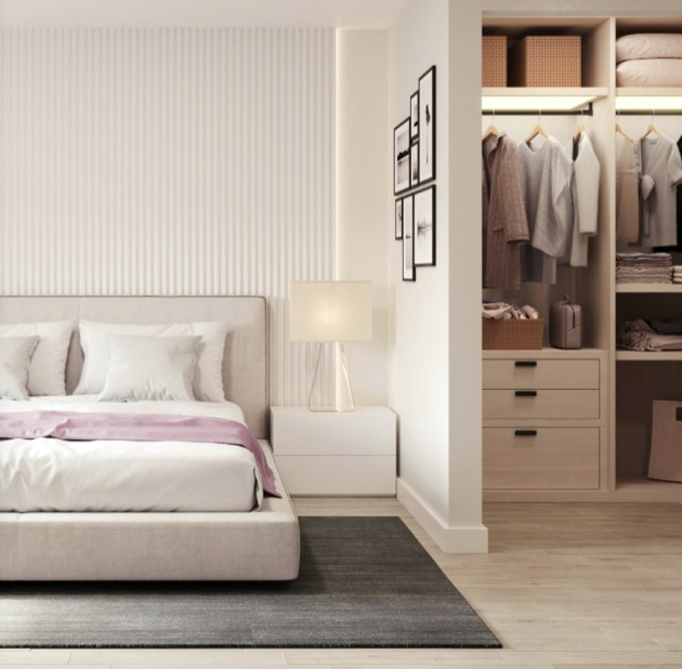 The Hillcrest-'Uptown'-bedroom-closet-light-colour-scheme at The Hillcrest (198 W King Edward Avenue, Cambie, Vancouver West)