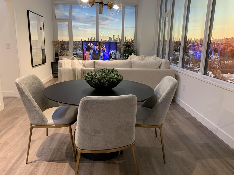 alaska-2b-plan-display-suite-living-area at Alaska (4455 Alaska Street, Brentwood Park, Burnaby North)